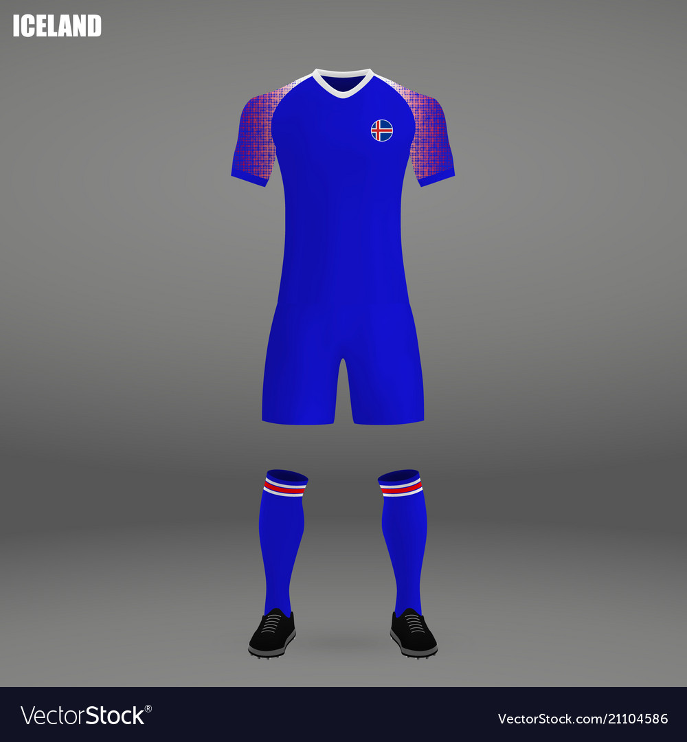 79397ab40c3 Football kit of iceland 2018 Royalty Free Vector Image