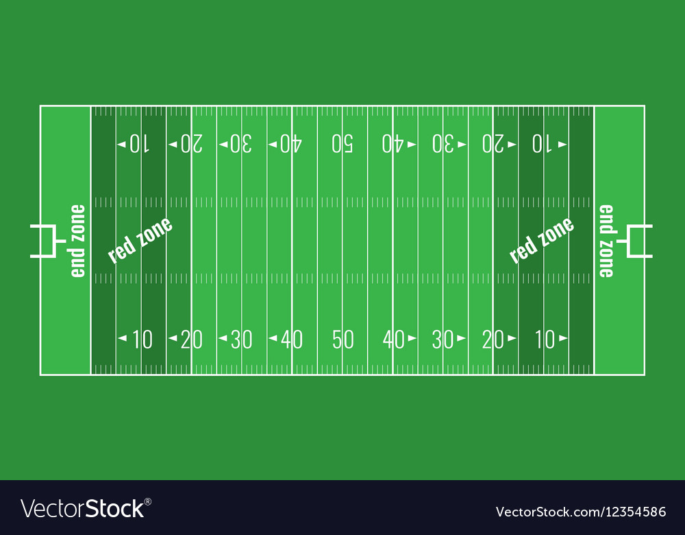 Grass Textured American Football Field