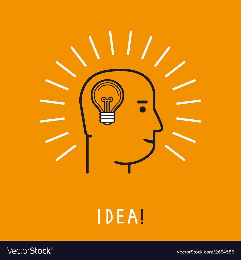 Human thinking concept