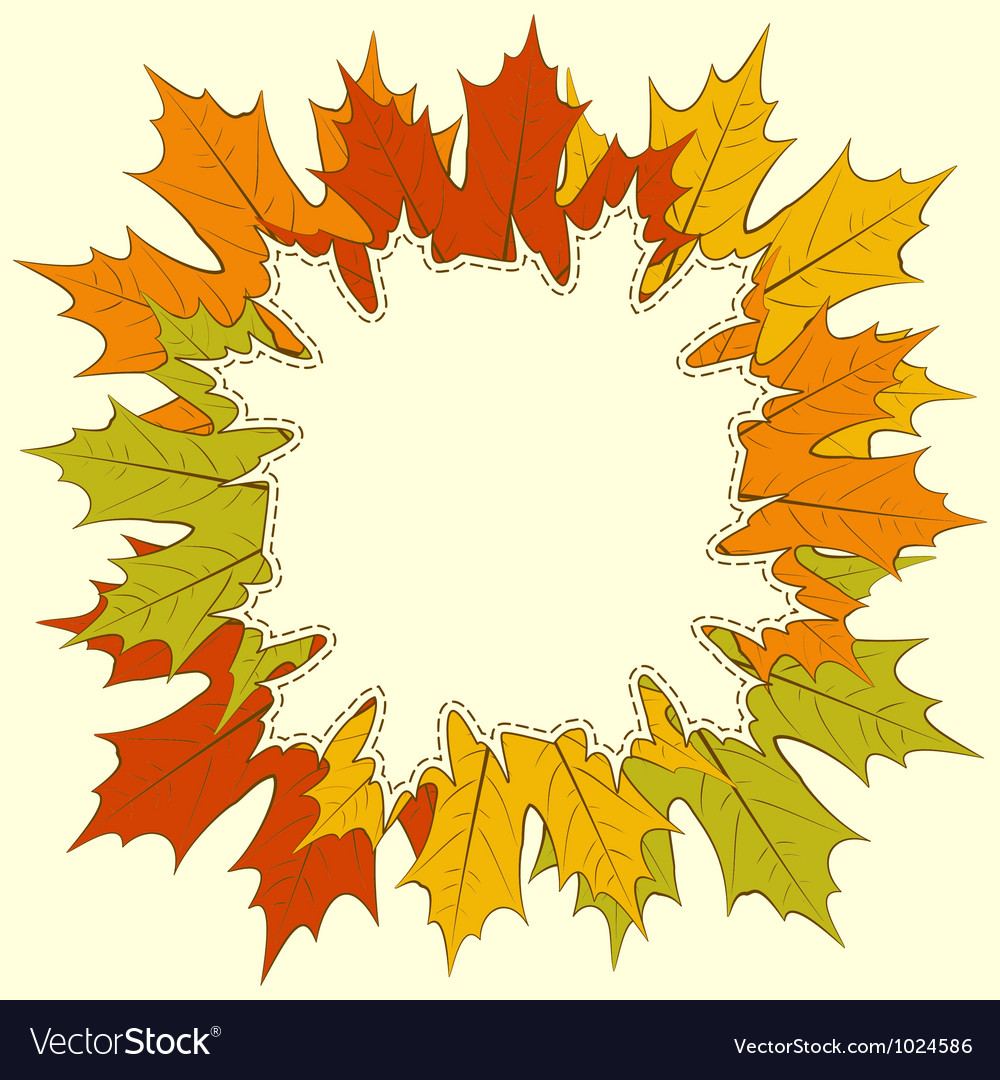 Maple Leaf Frame Royalty Free Vector Image - VectorStock