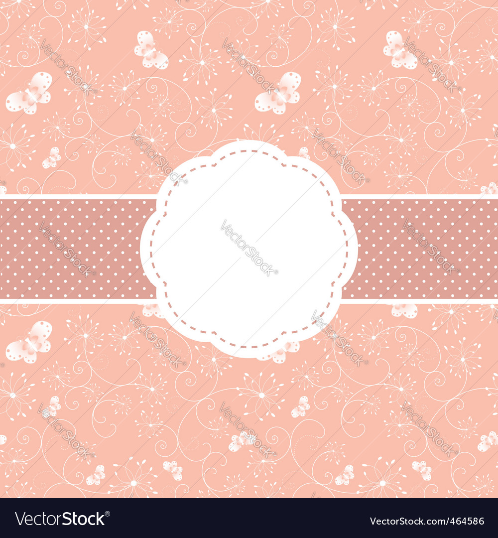 Springtime greeting card vector image