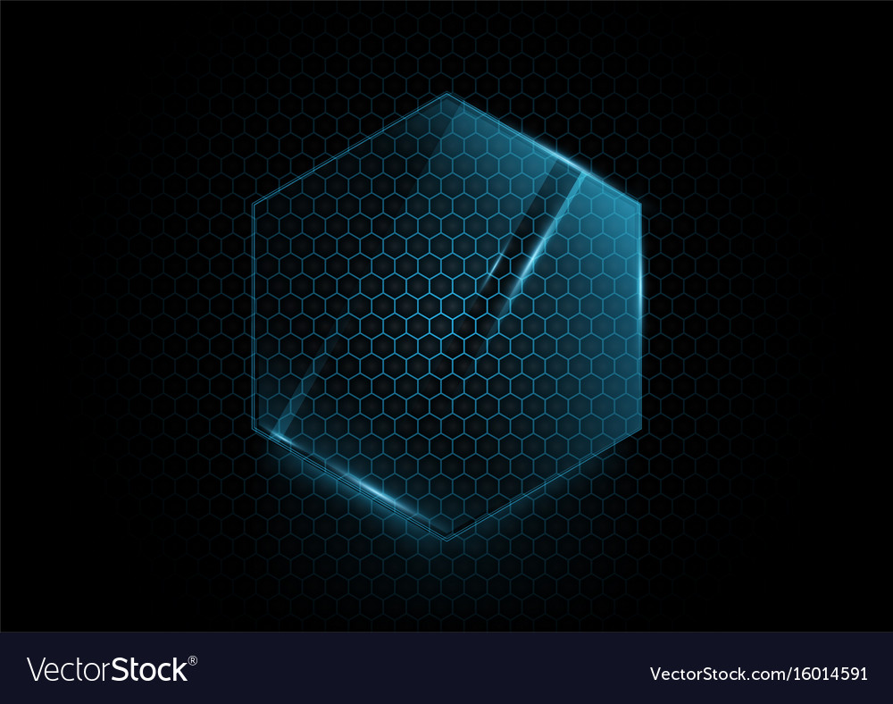 Abstract blue hexagons background technology