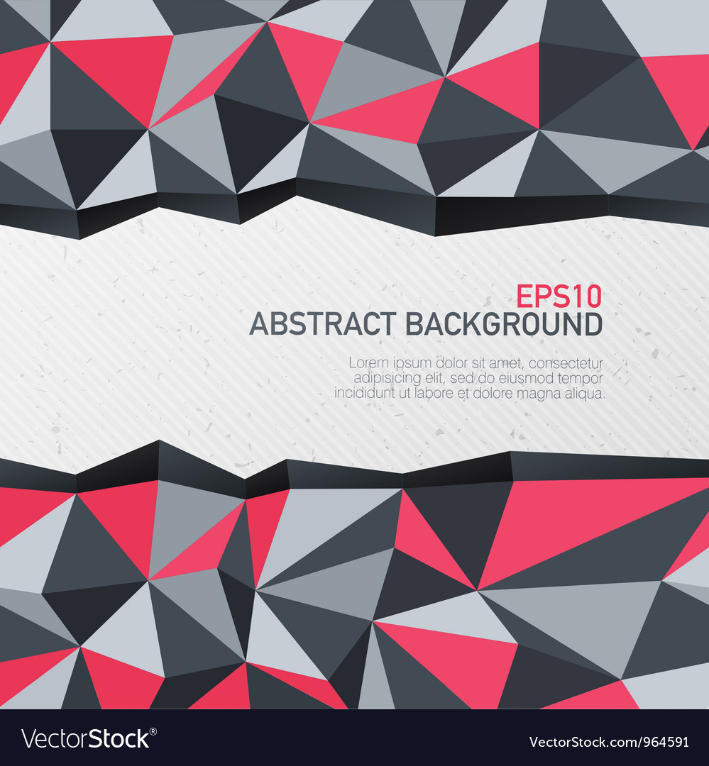 Abstract triangle background with space for text vector image