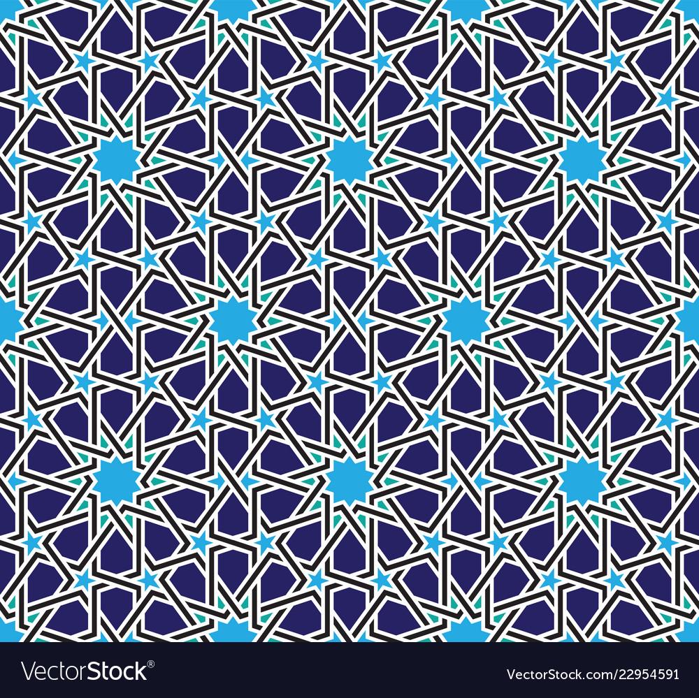 Classical moroccan geometric seamless pattern