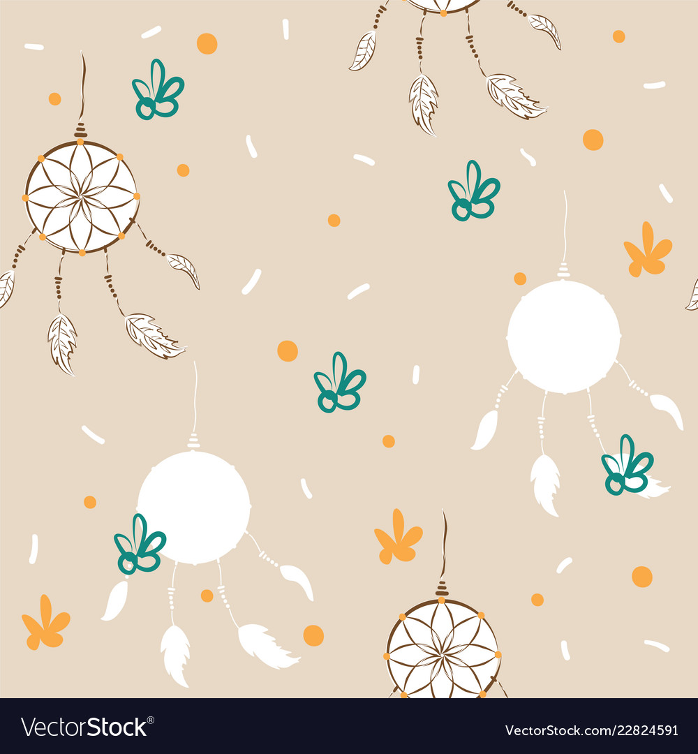 Dreamcatcher background for fabric or card