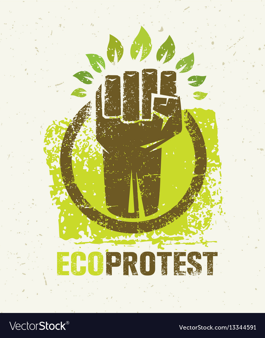 Eco protest creative green poster concept organic
