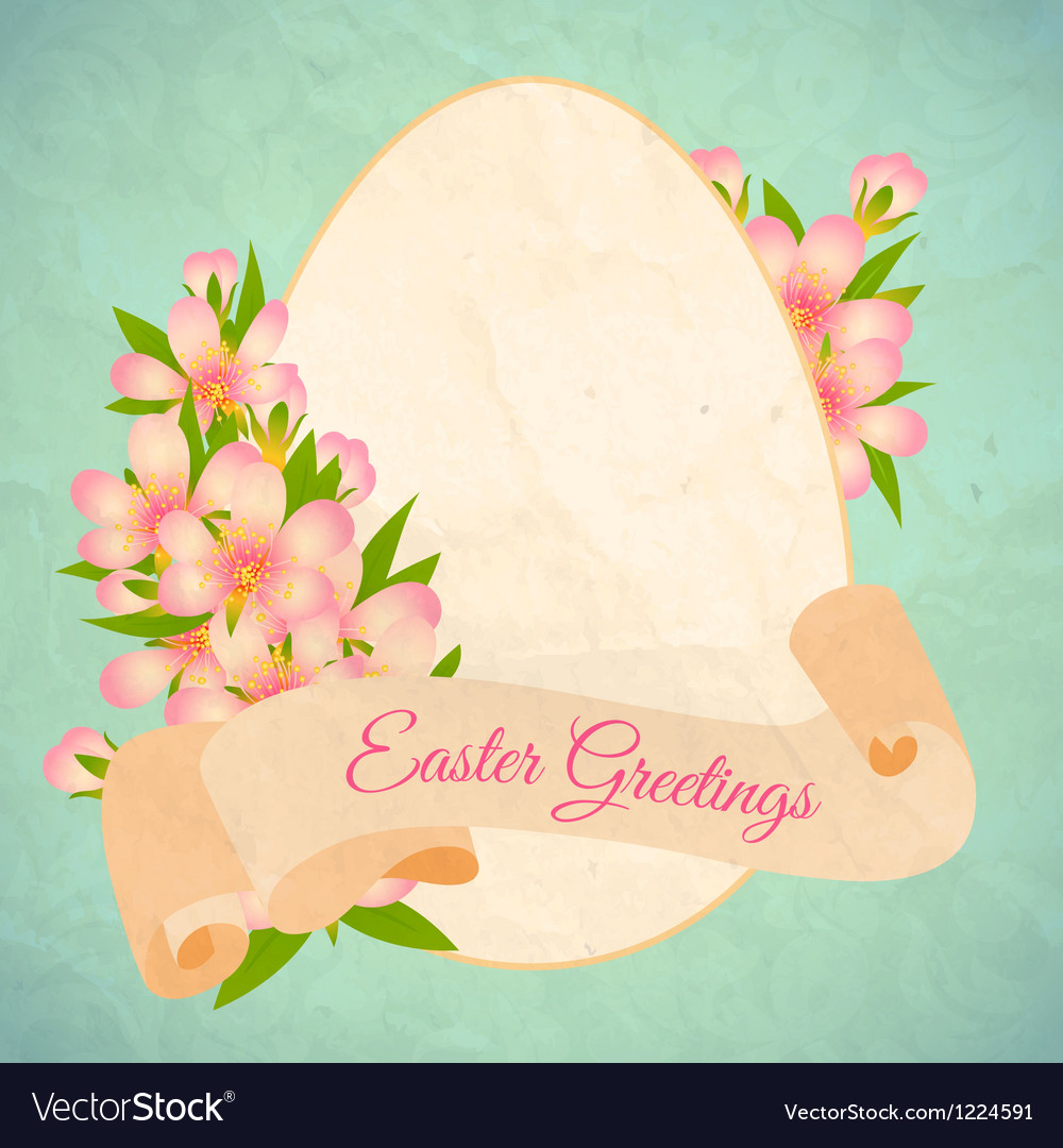 happy easter card template royalty free vector image