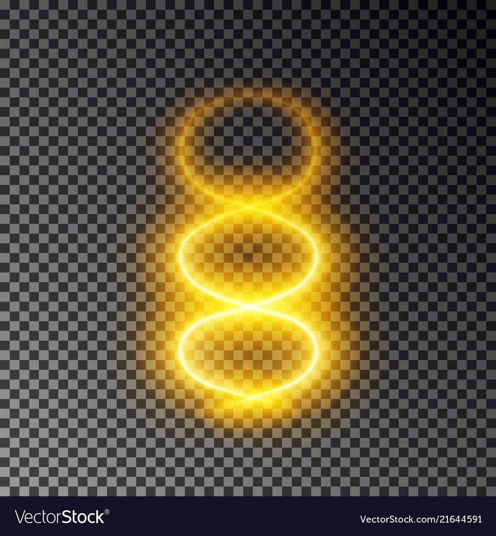 Light spiral line effect gold dna glowing
