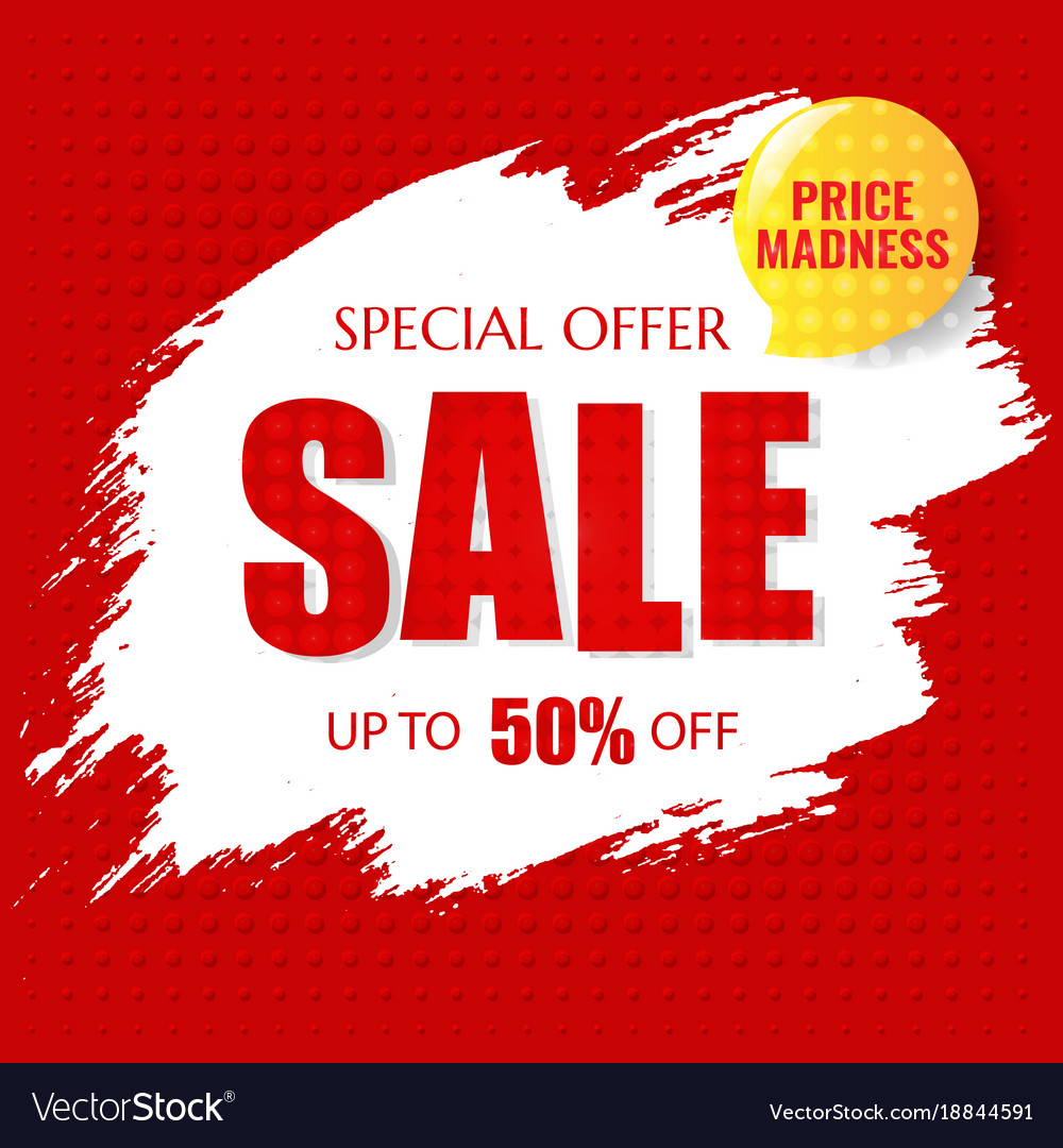 Sale poster with text