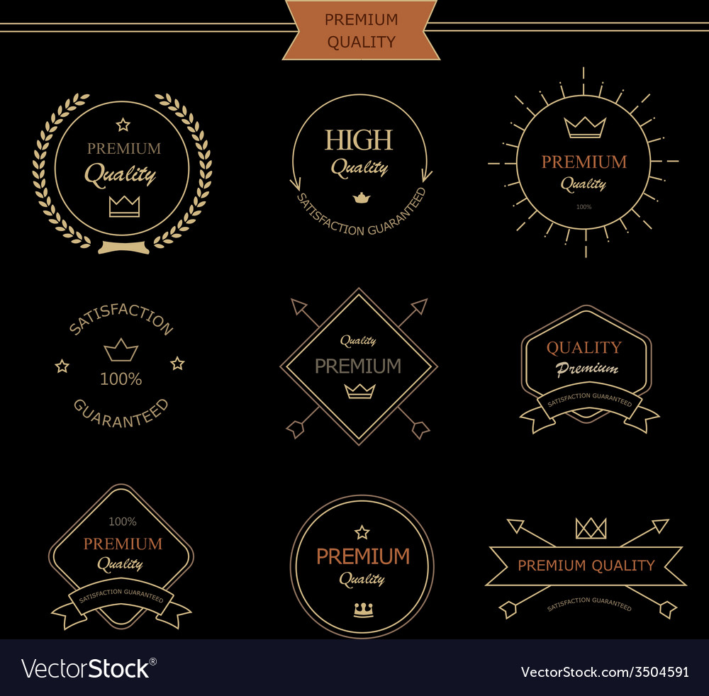 Set of premium quality vintage style elements