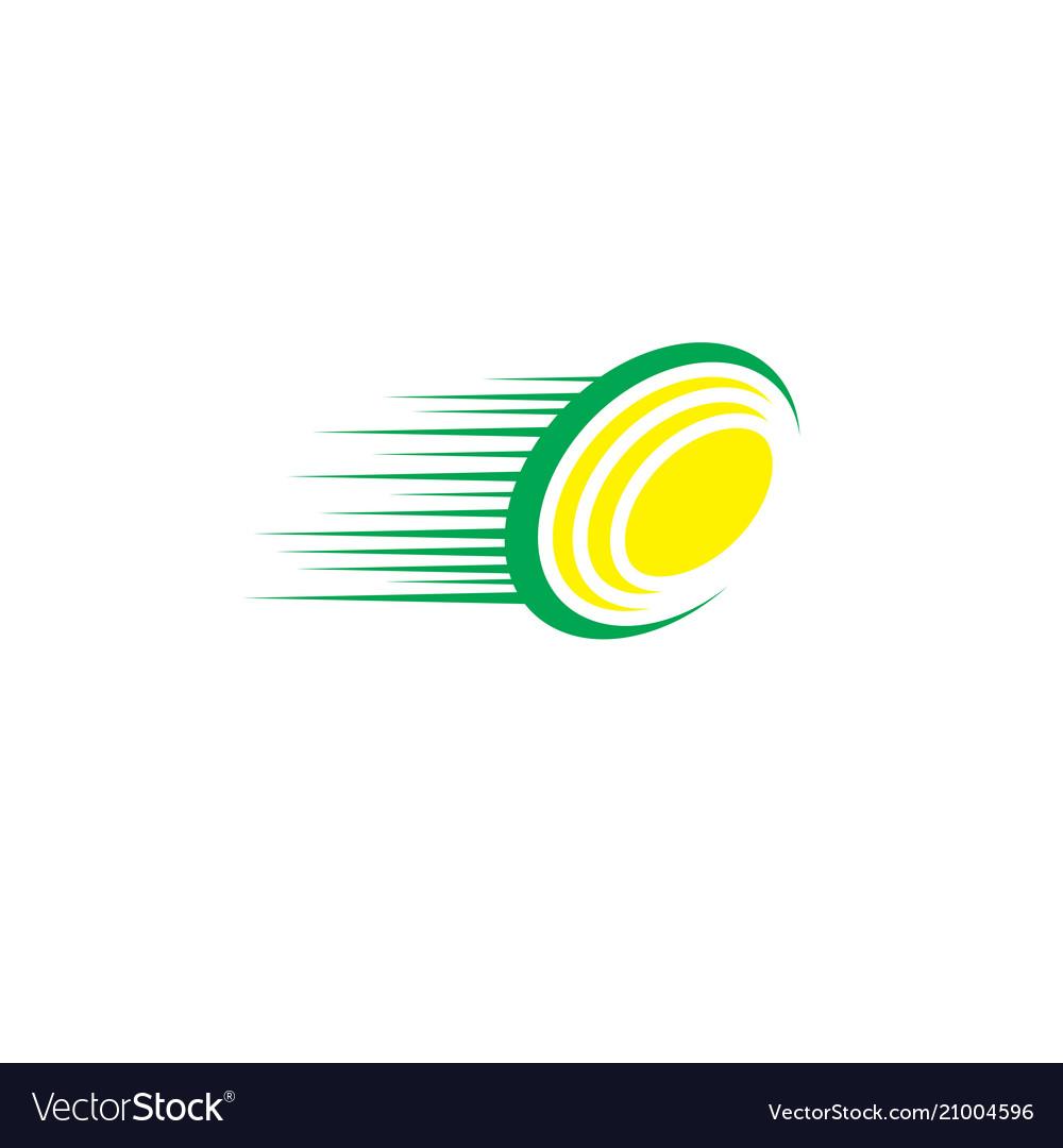 Abstract fast circle logo