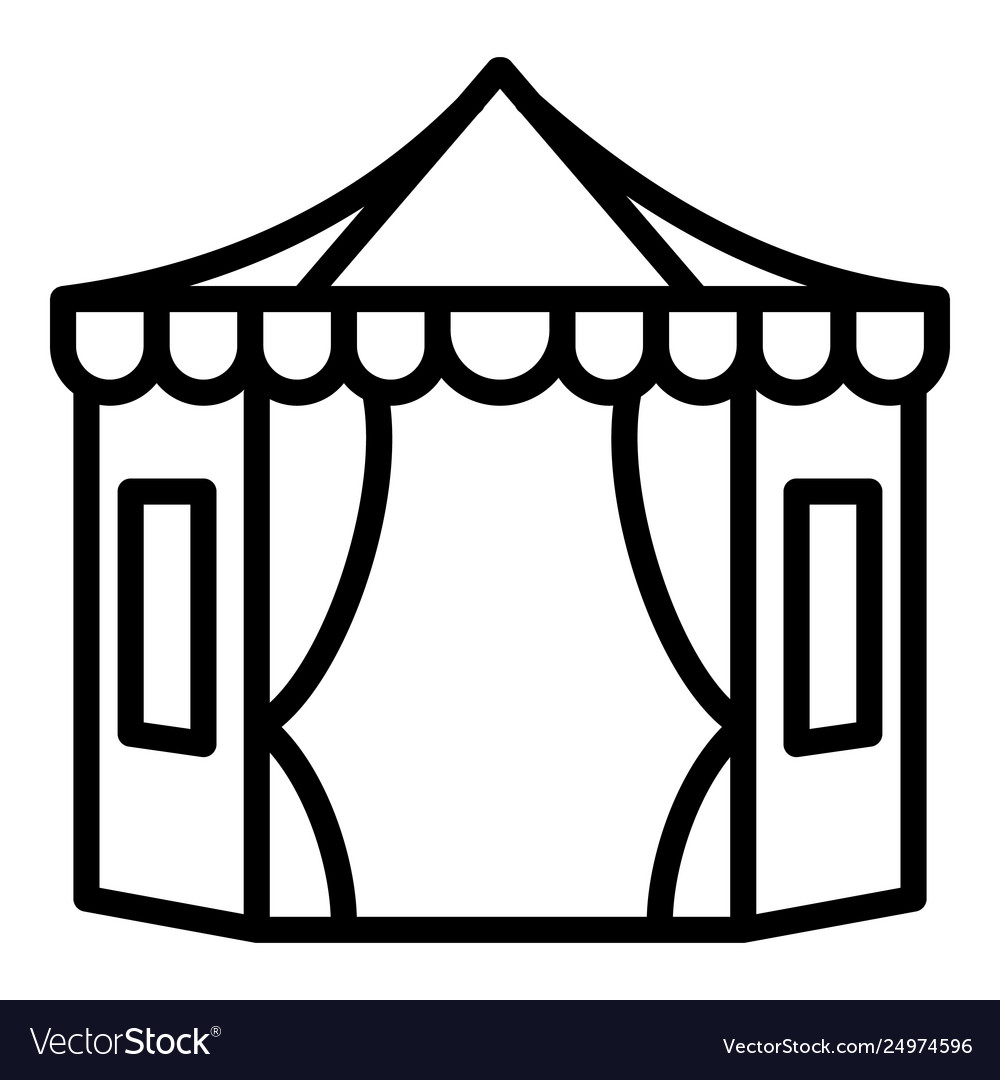 Big tent with windows icon outline style