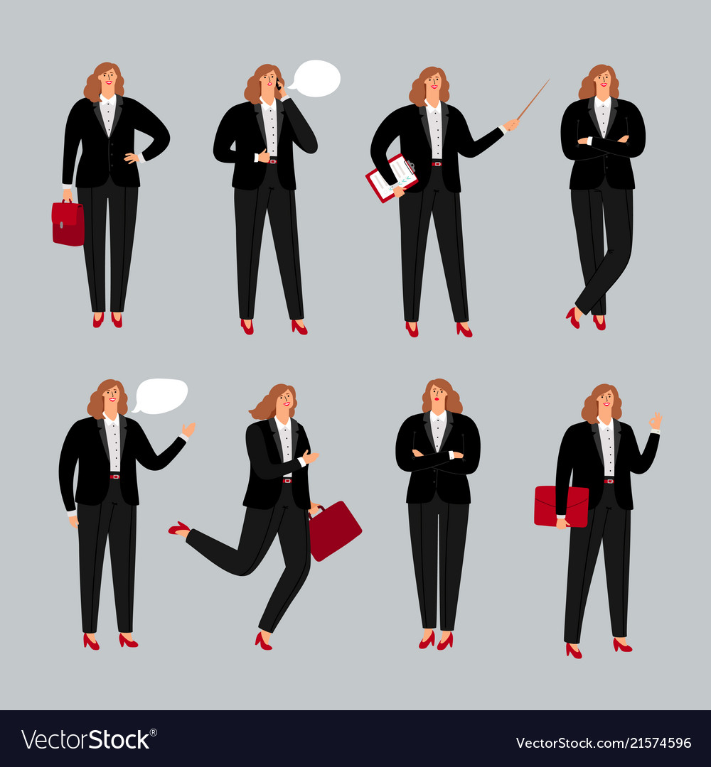 Businesswoman character young female professional