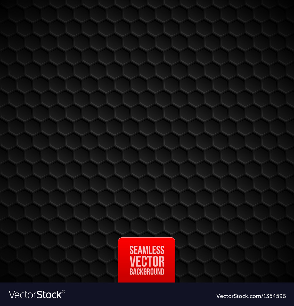 Hexagons seamless black background