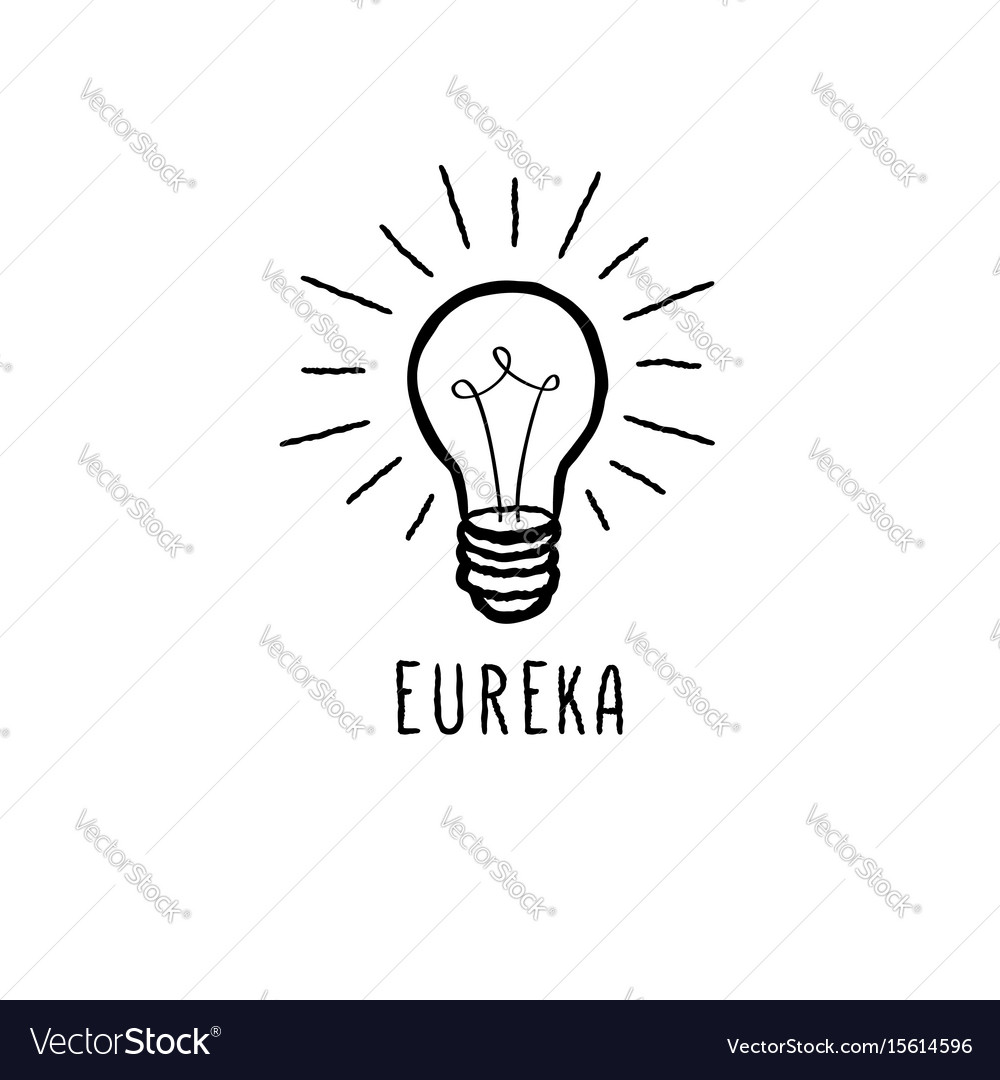Lamp bulb isolated over white background with vector image