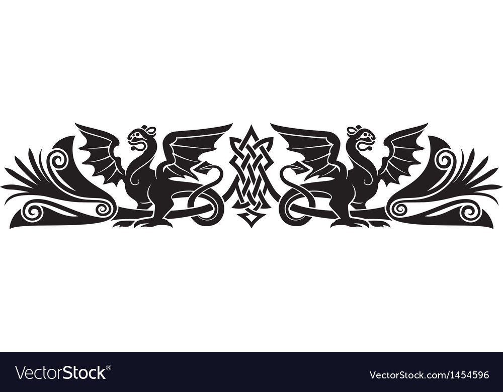 Medieval Celtic pattern vector image