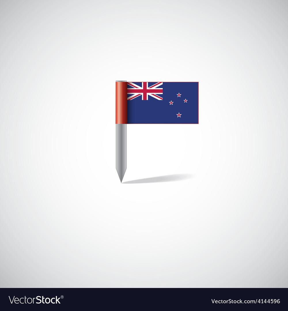 New zealand flag pin