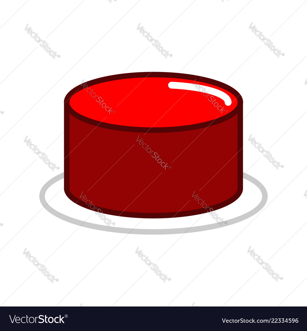 Red button isolated press in case of danger