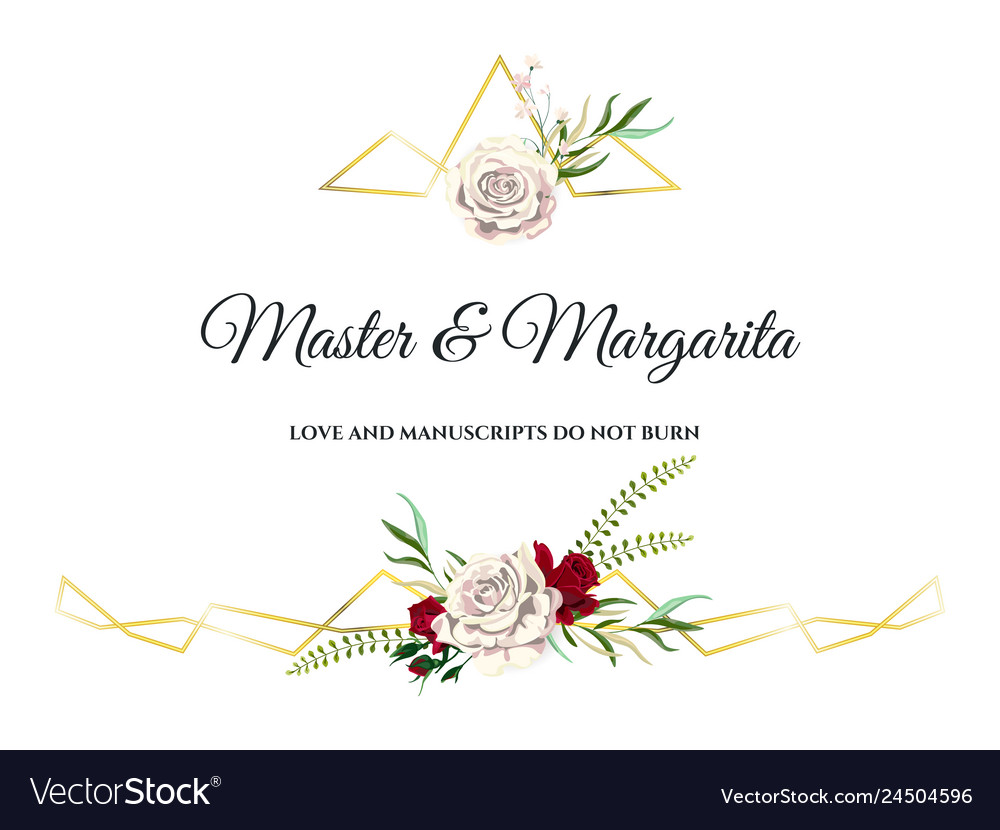 Roses wedding invitation card for design 01 vector