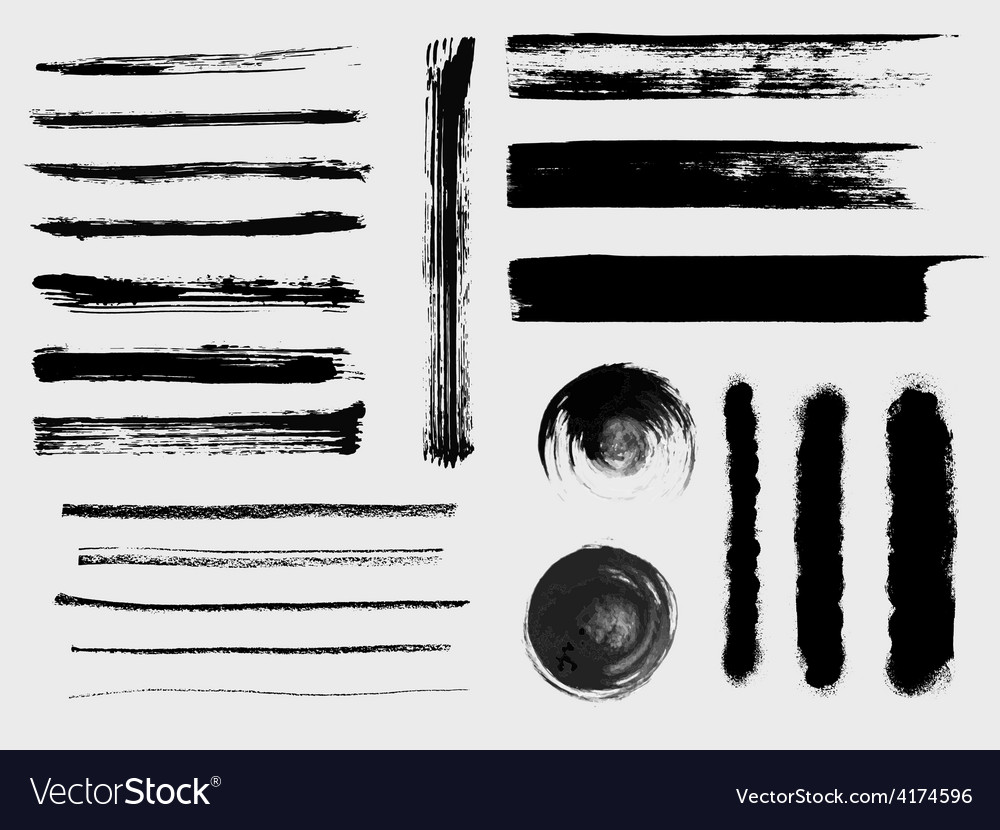 Set of grungy brushes and textures vector image