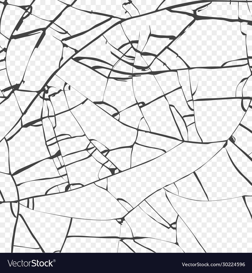 Surface broken glass texture sketch shattered