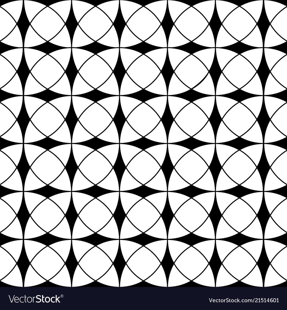 Abstract geometric seamless print pattern