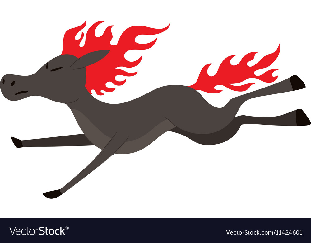 Cartoon horse character