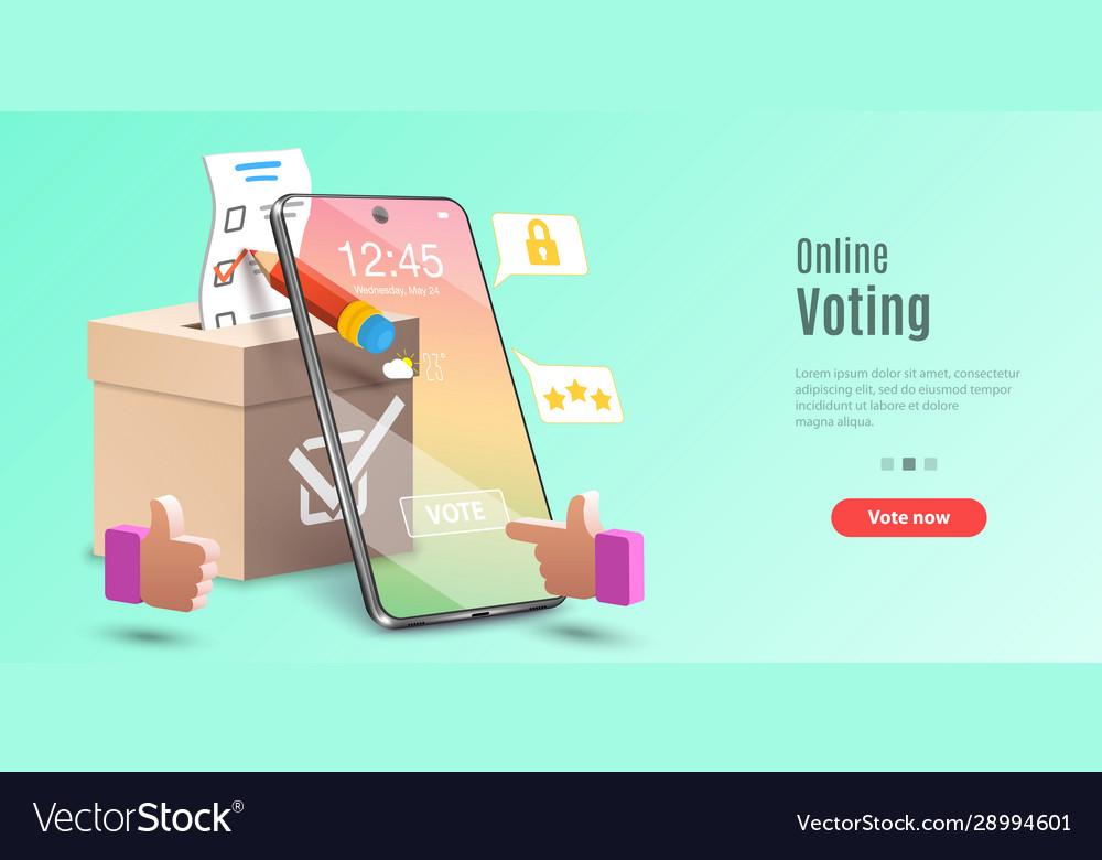 Concept online voting app e-voting internet