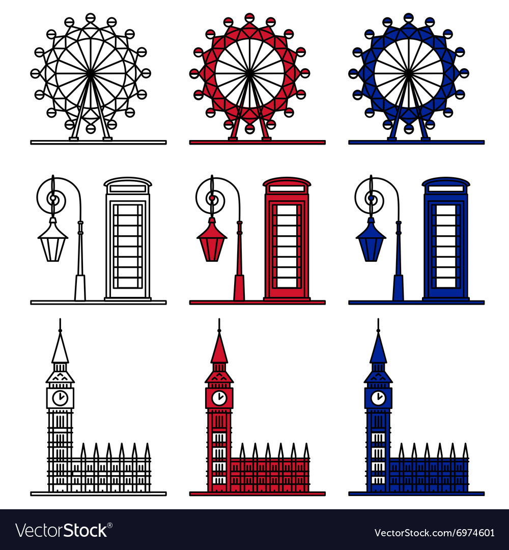 London Symbols Set - London Eye Big Ben