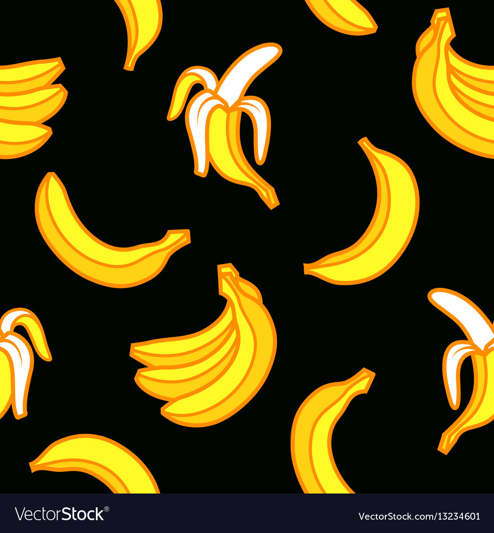 Seamless pattern bananas vector image