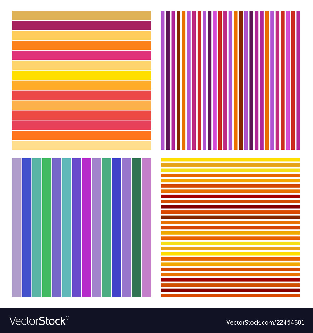 Set abstract striped background colorful line