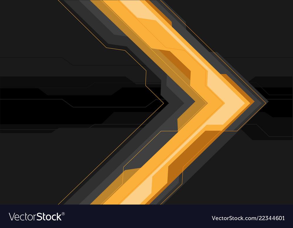 Yellow grey arrow futuristic on black banner