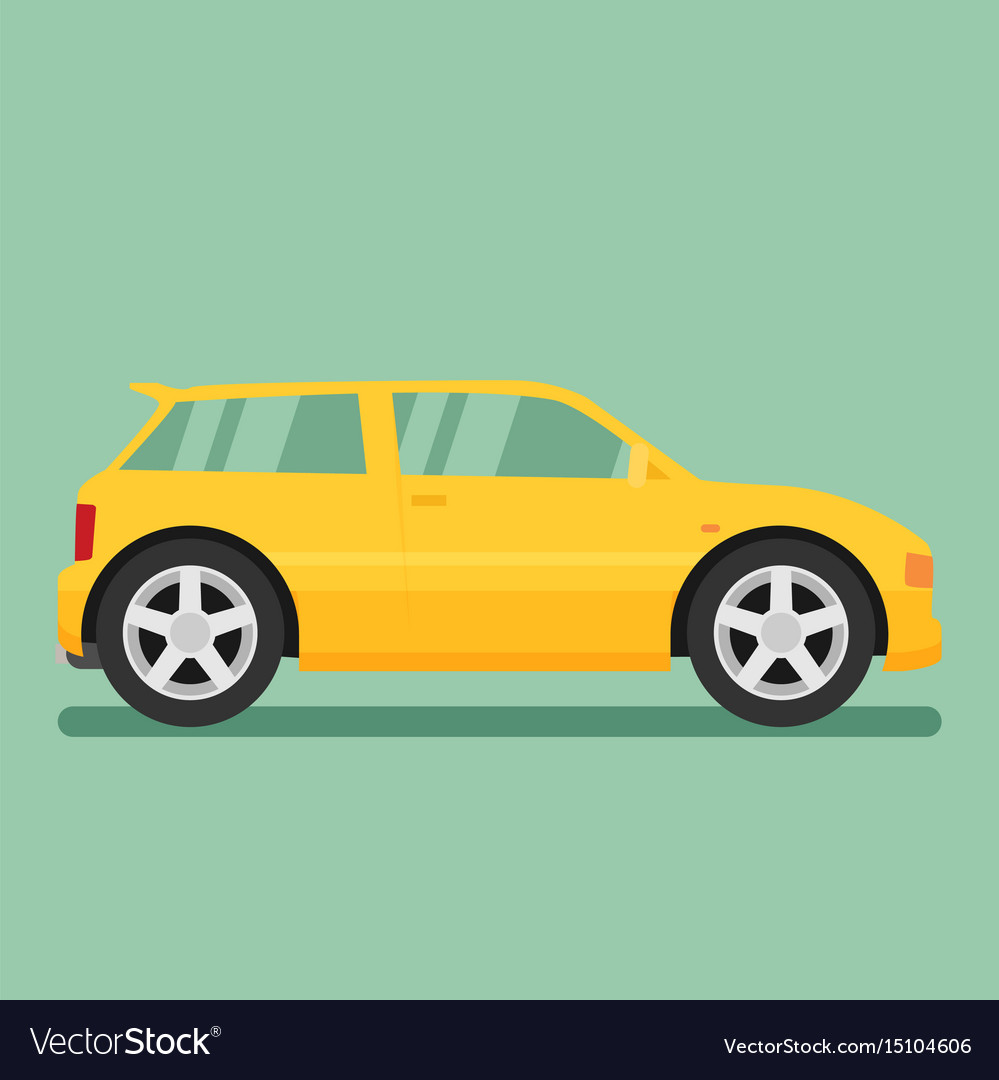 Isolated car flat design style vector image