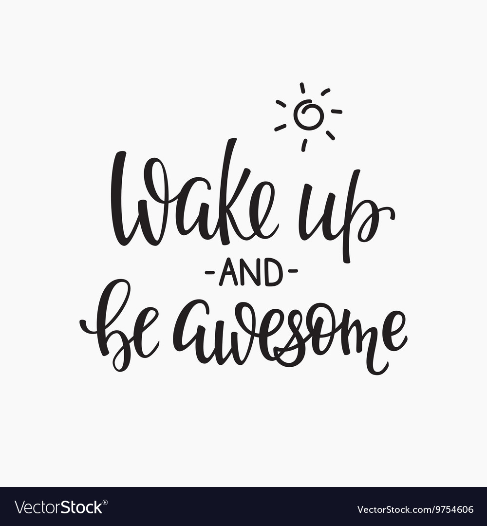 Quotes Motivation For Life And Happiness Morning Vector Image