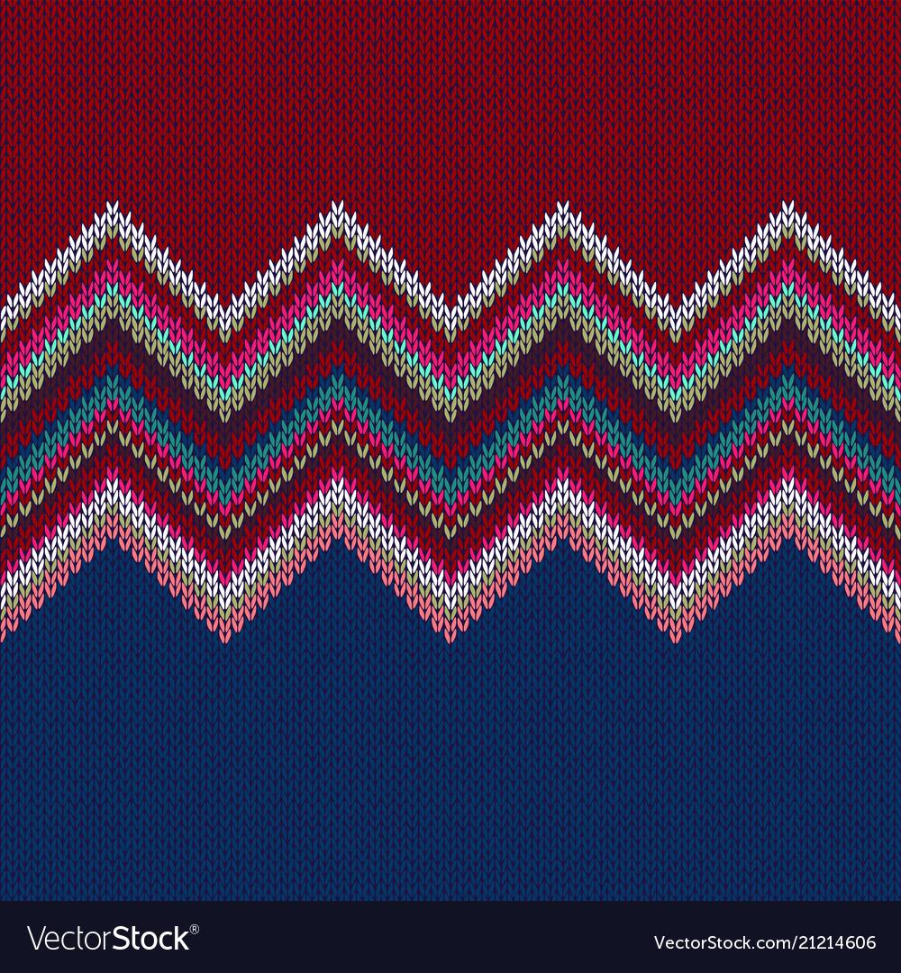 Seamless geometric knitted pattern