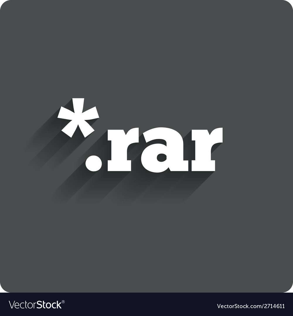 Archive file icon download rar button royalty free vector.