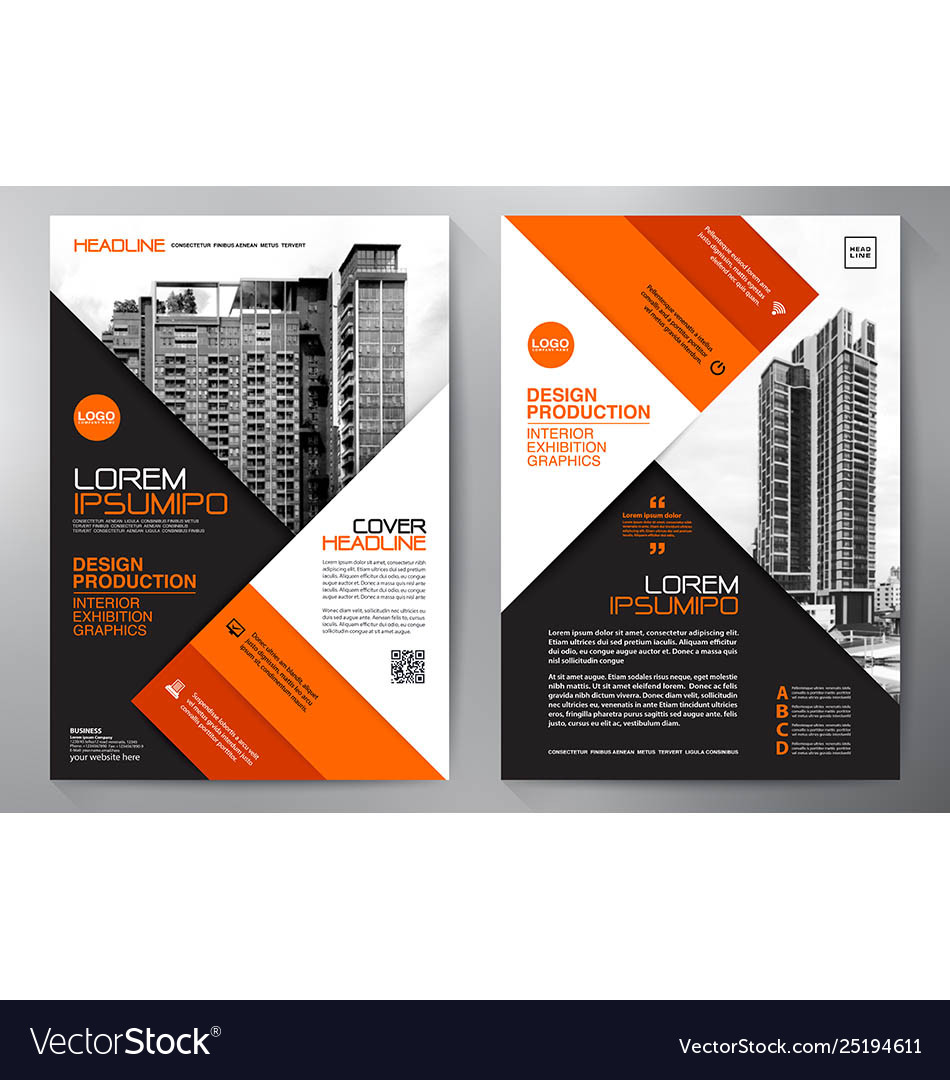 Business brochure flyer design a4 template