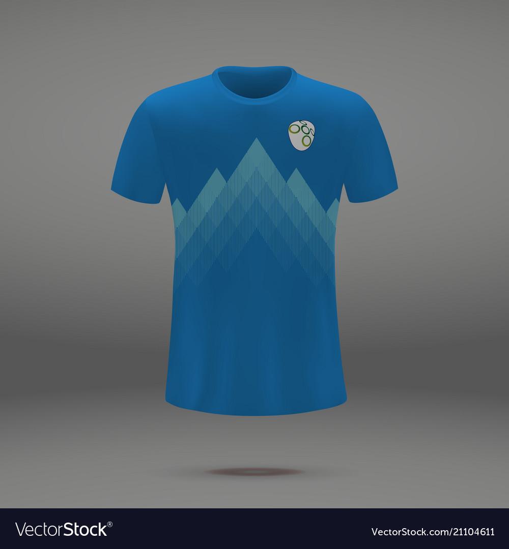 a03418d9787 Football kit of slovenia Royalty Free Vector Image