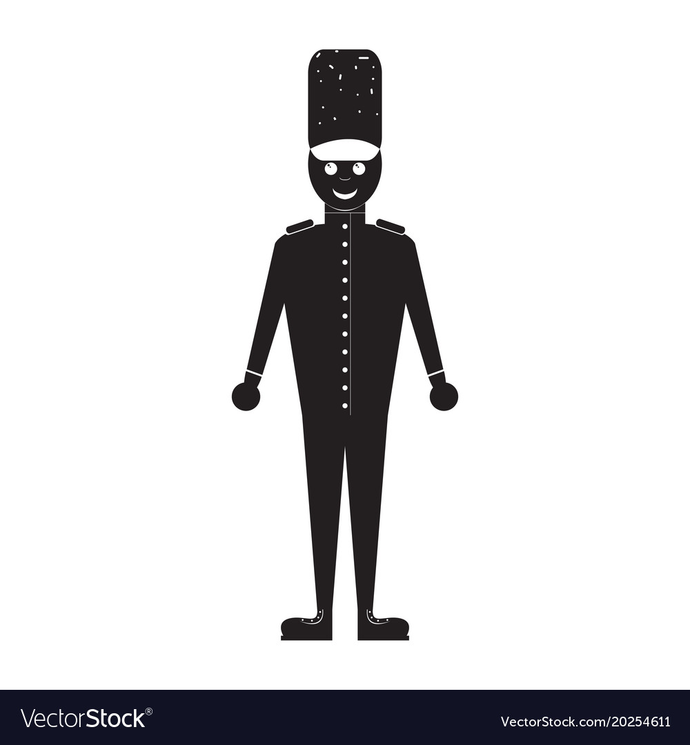 Isolated nutcracker soldier toy icon