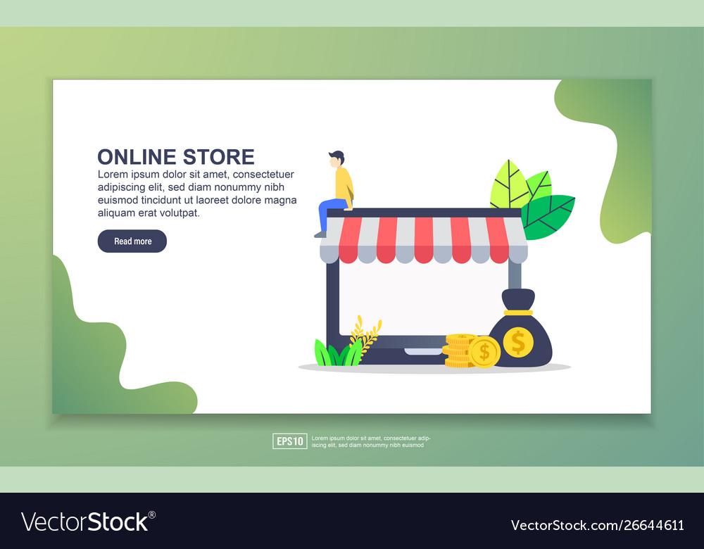 Landing page template online store modern flat