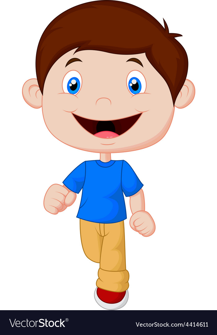 little boy cartoon walking royalty free vector image rh vectorstock com little boy cartoon shows little boy cartoon images