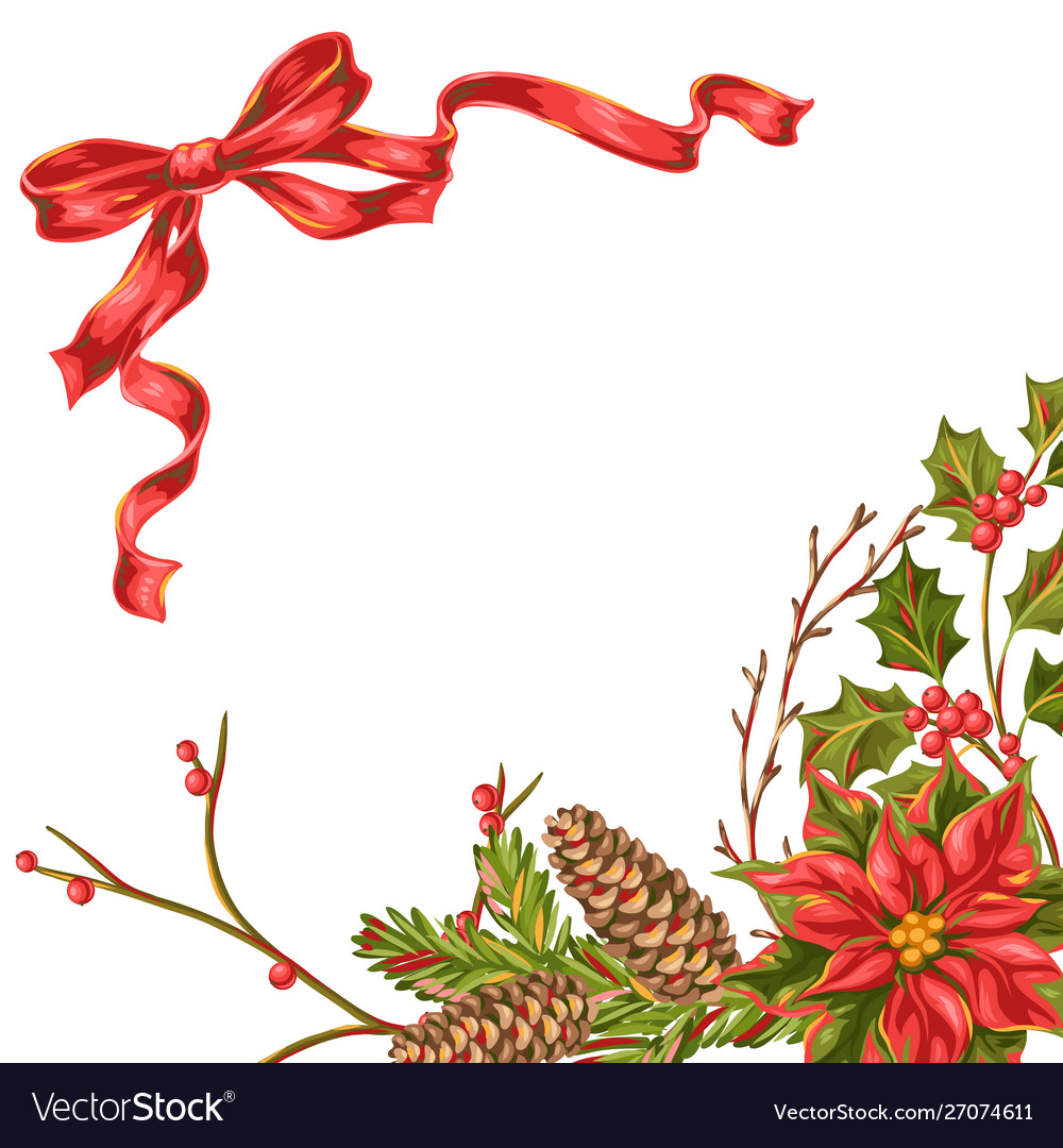 Merry christmas invitation or greeting card