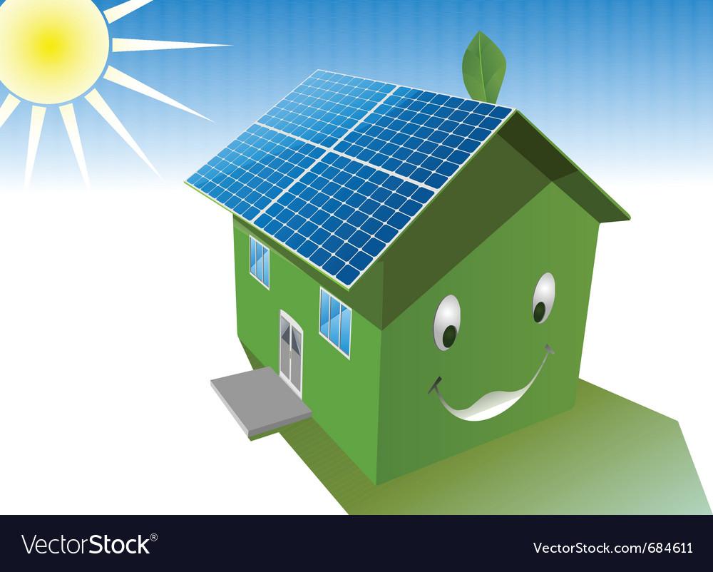 Solar house vector image