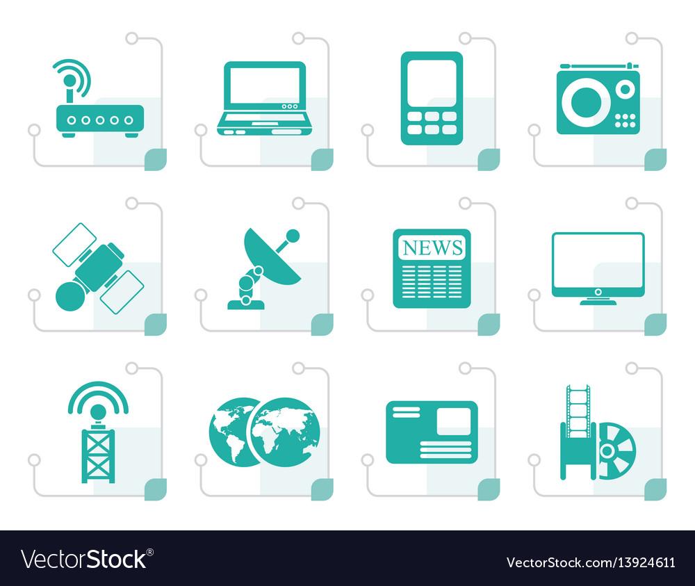 Stylized business technology communications icon