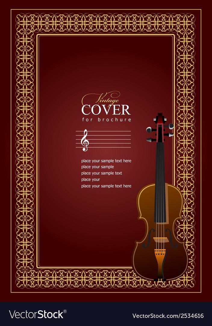 Al 0507 cover violin vector image