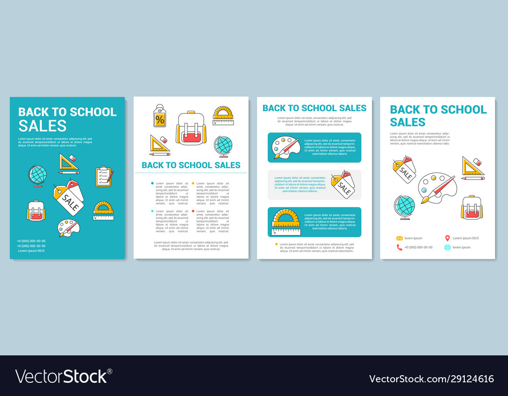 Sales Brochure Template from cdn2.vectorstock.com