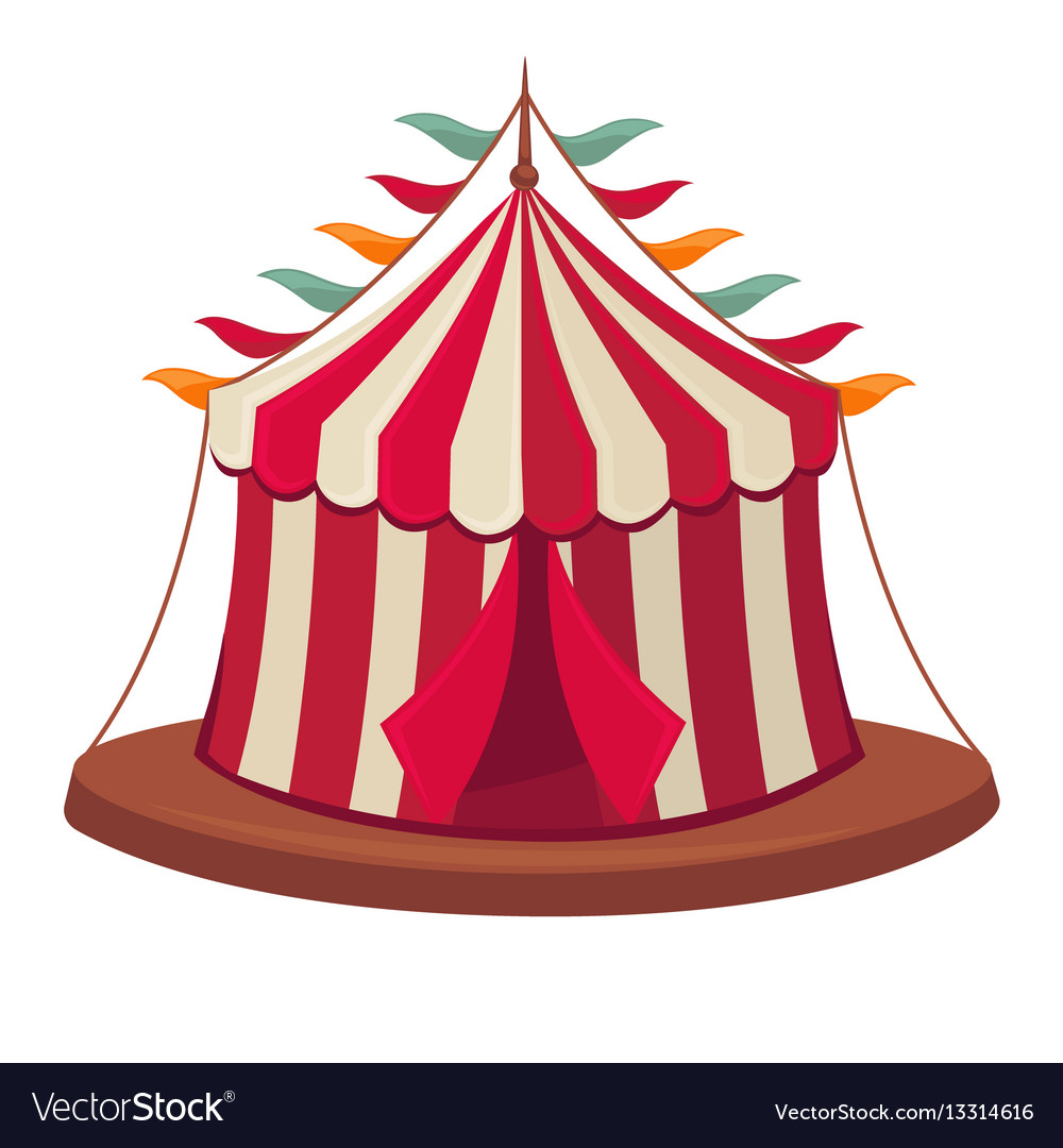 Circus tent isolated flat icon