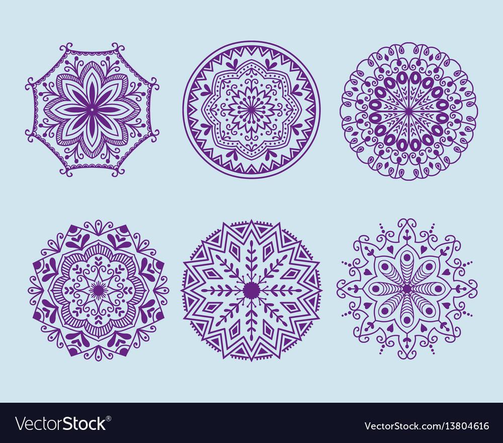 Henna tattoo mehndi flower template doodle