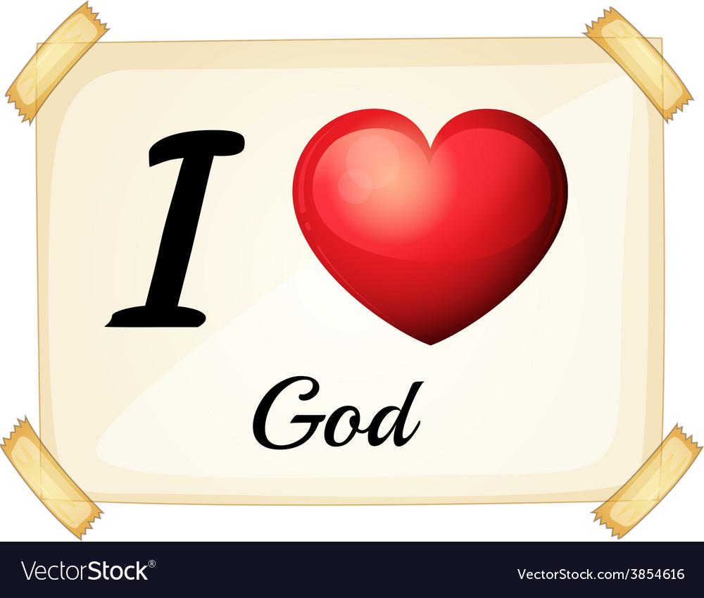I love god vector image