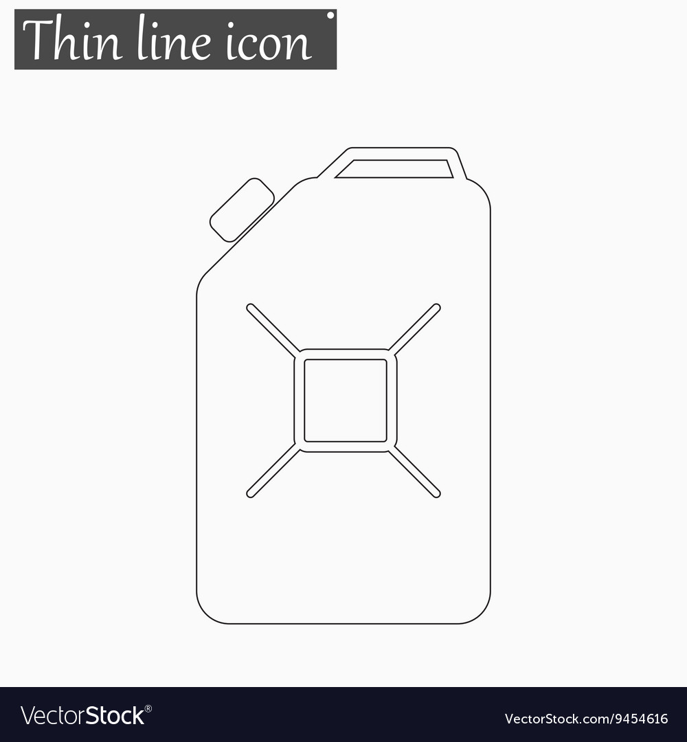 Jerrycan oil icon Style thin line